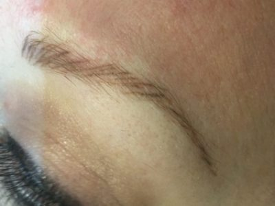 Corrective Permanent Makeup Brows Before