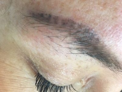 Corrective Permanent Makeup Brows - Before