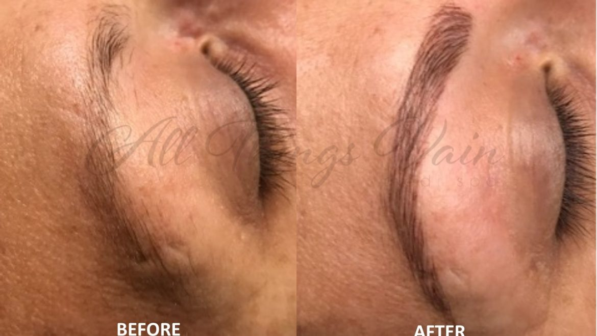 Permanent Makeup Brows in Lone Tree CO – Before and After