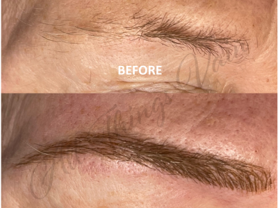 Before and After Microblading Brows June 2021